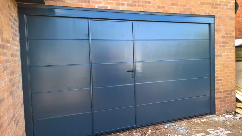 Blue Garage Door Installations In Lichfield And Tamworth