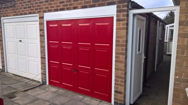red cardale up and over garage door