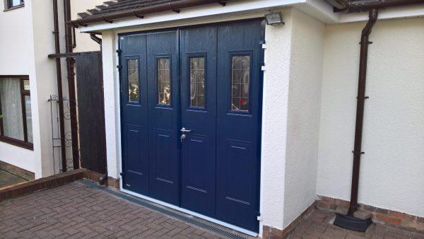 blue teckentrup side hinged garage door installation