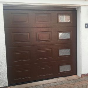 brown sectional garage door installation