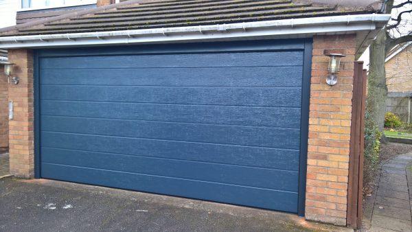 grey noverm automatic garage door