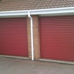 red electric roller garage doors