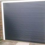 dark grey roller garage door