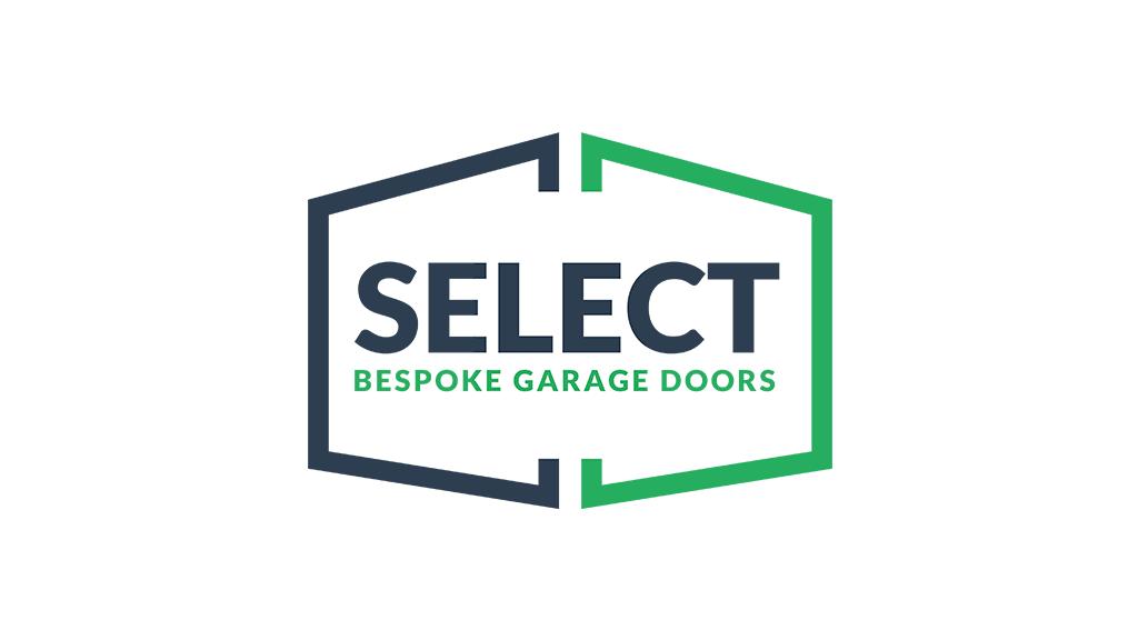 select garage doors logo